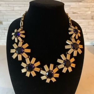J. Crew Daisy Flower Statement Necklace